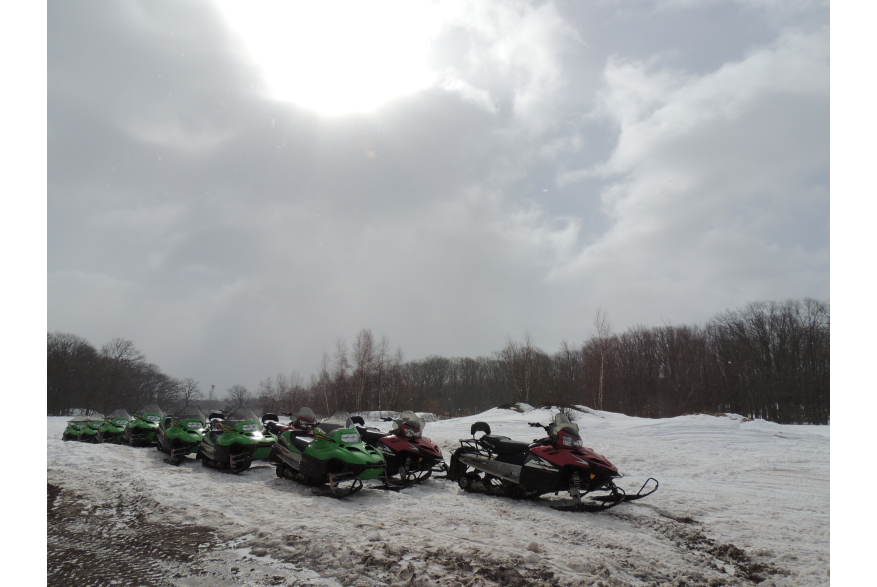 Snowmobiling in the Pocono Mountains