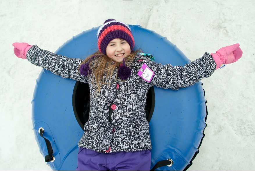 Snow Tubing Fun in the Pocono Mountains