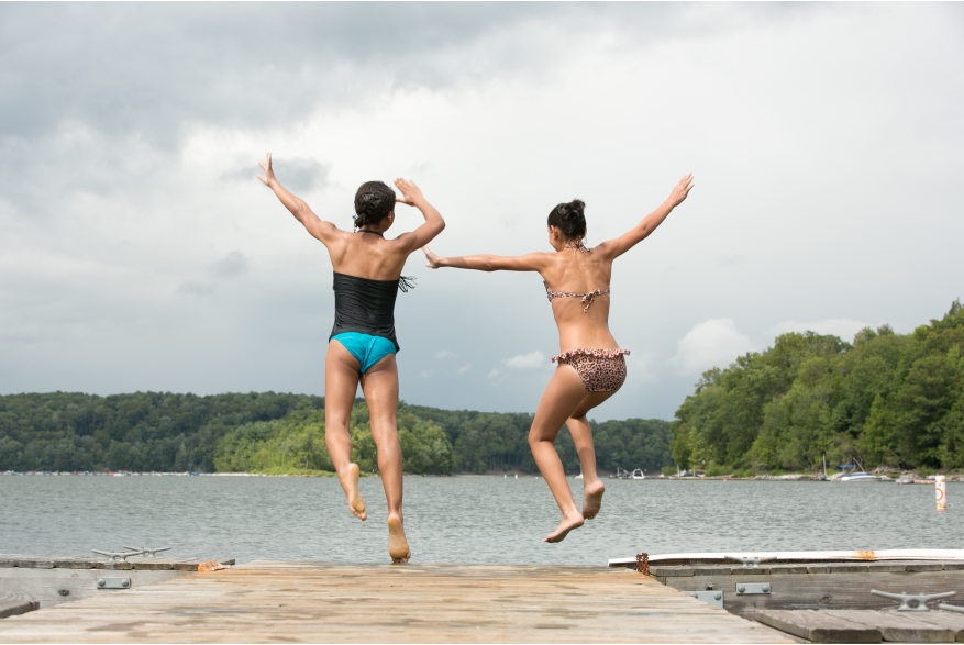Lake Activities in the Pocono Mountains