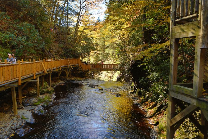 Scenic Fall Views in the Pocono Mountains