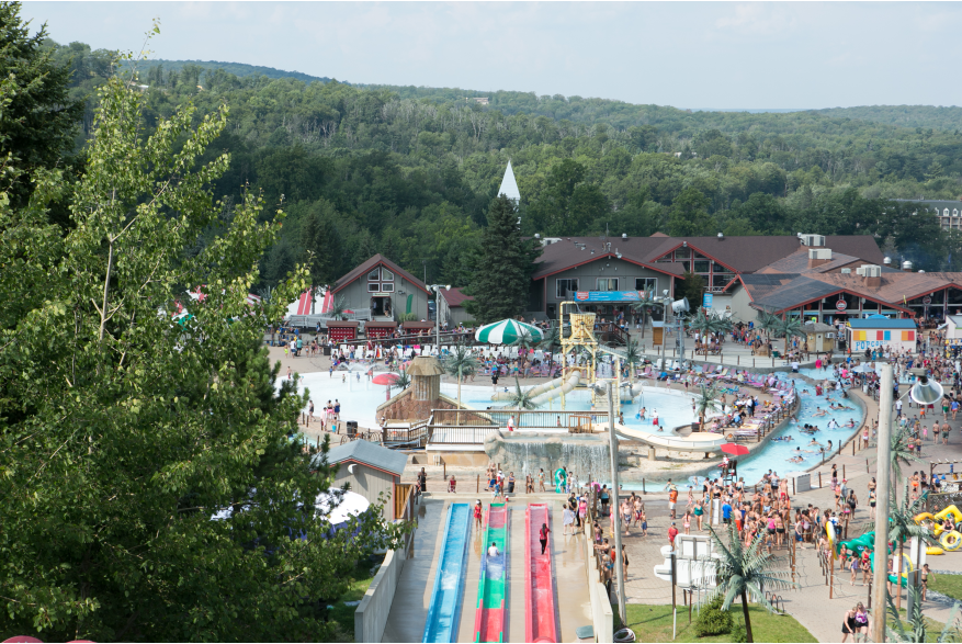 Outdoor Waterparks in the Pocono Mountains