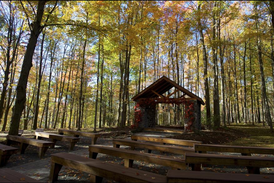 Fall Pocono Wedding Outdoors