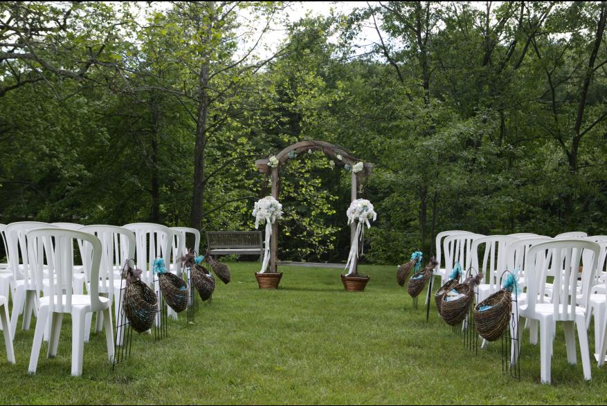 Outdoor Pocono Wedding Ceremony