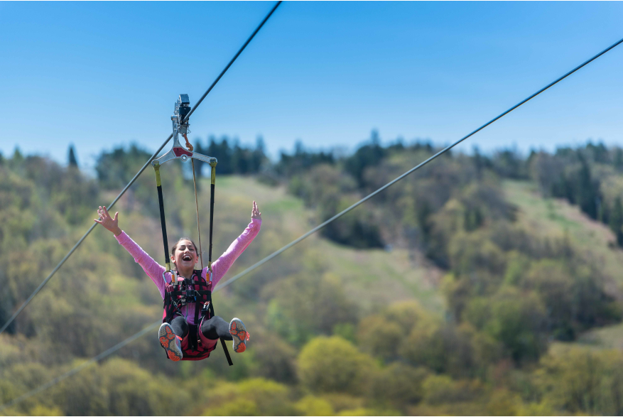 Take a Fall Zip Line Ride in the Pocono Mountains