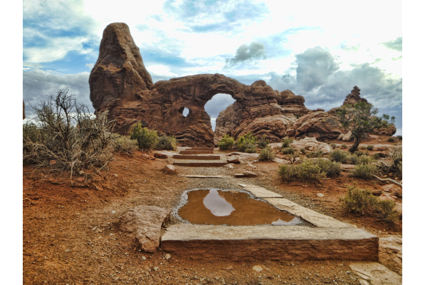Arches NP Turret Arch Reflection