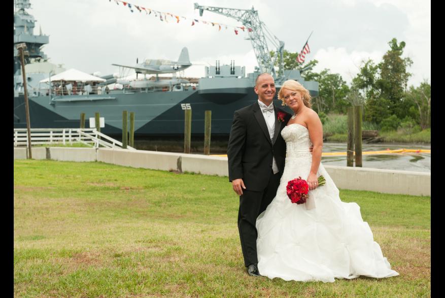 Battleship NC wedding