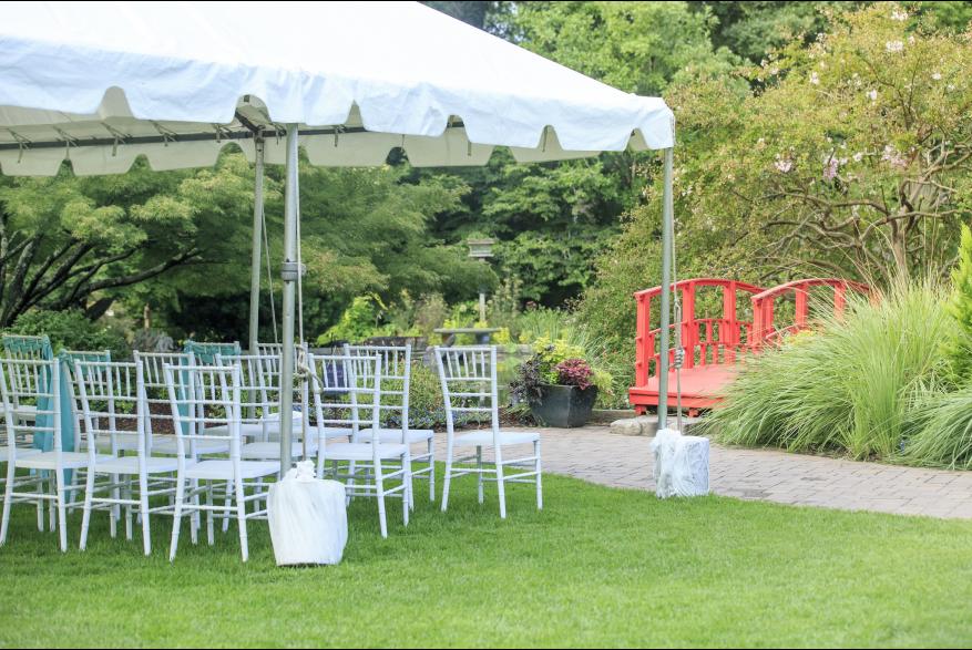 NHC Arboretum wedding setup