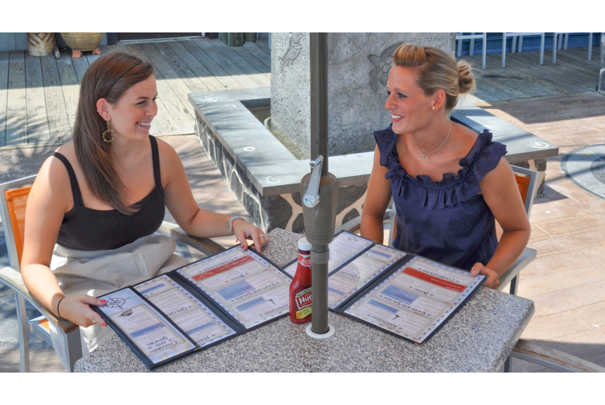 Outdoor dining in Kure Beach