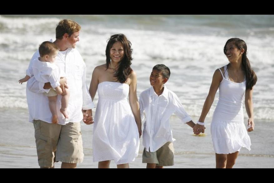 Family time on Kure Beach