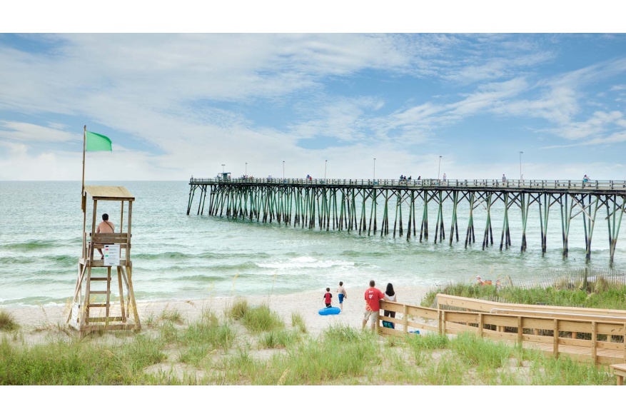Kure Beach Live Guard Stand and Pier