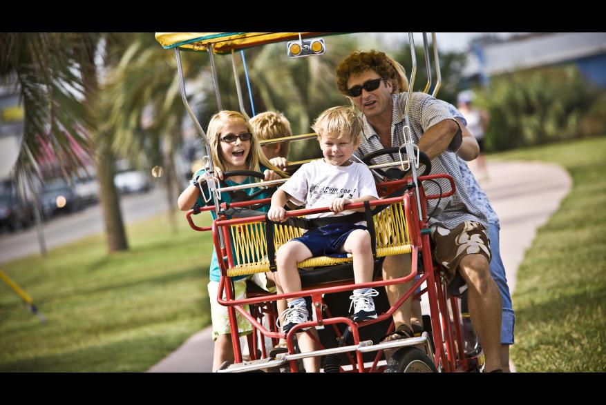 Family on Surrey Bike
