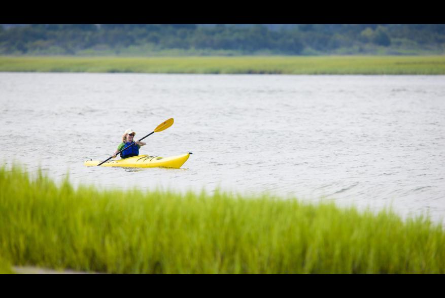 Kayaker in Wrightsville Beach Salt Marshes