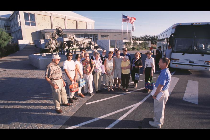 Group visiting the NC Aquarium at Fort Fisher