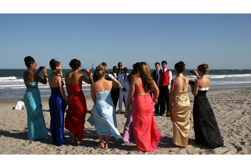 Prom pictures on the beach