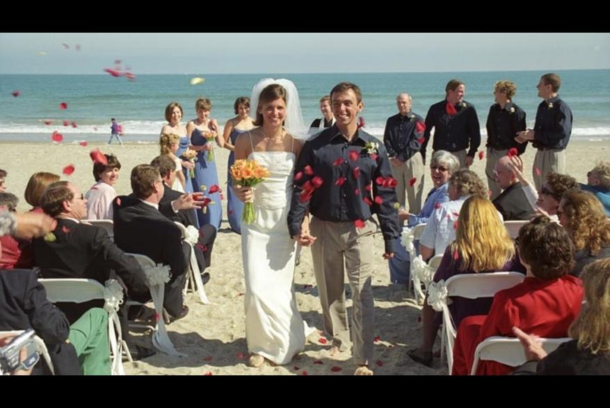 Wedding ceremony on Wrightsville Beach