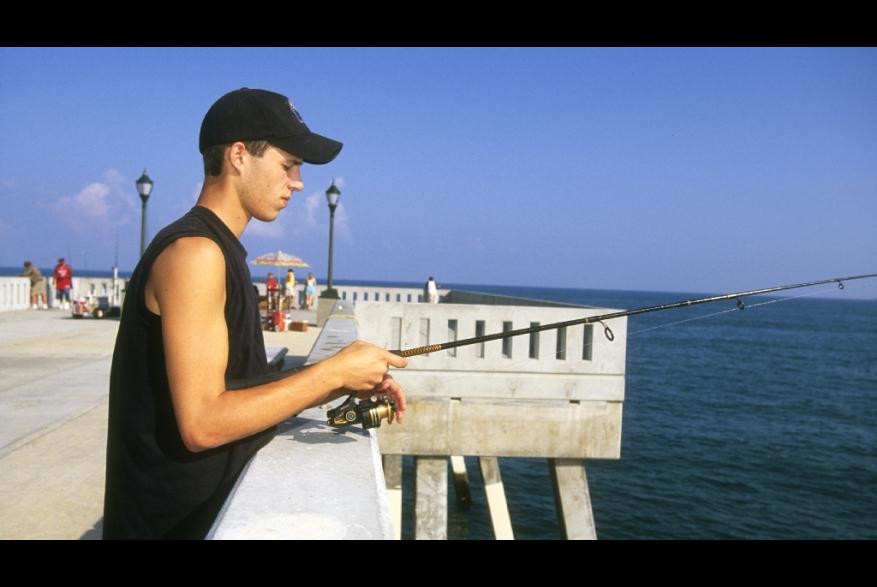 Fishing off Johnnie Mercers Pier