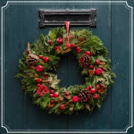 Holiday Wreath Stock Photo