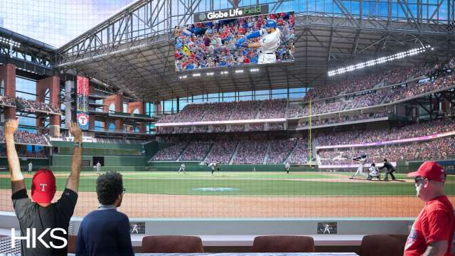 View from the suites at Globe Life Field
