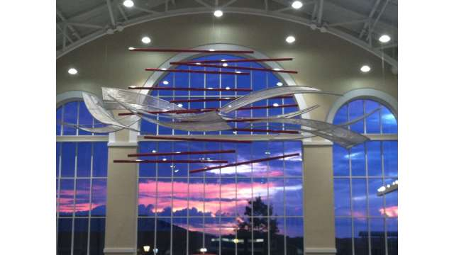 Sunrise over The Classic Center Atrium
