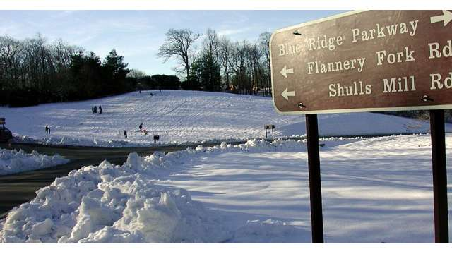 Moses Cone Sledding Hill | Boone, NC