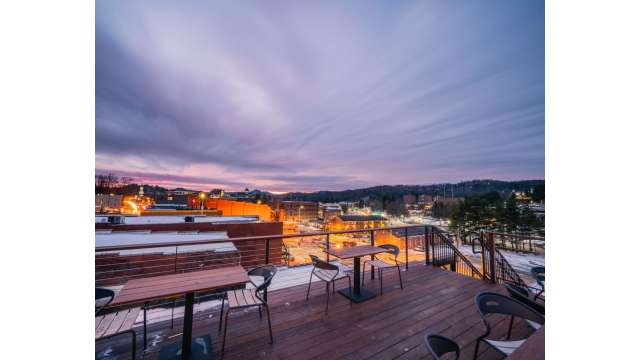 View from Horton Hotel Rooftop Bar | Boone, NC