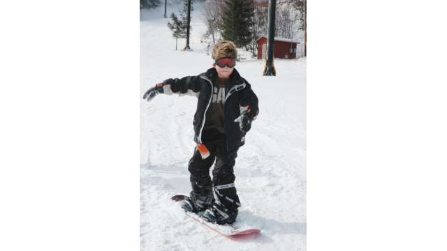 A Young Snowboarder   Boone, NC