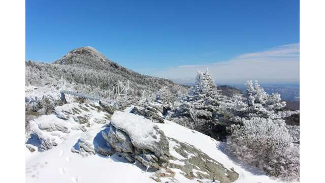 Grandfather Mountain Staff Clears Snow and Ice