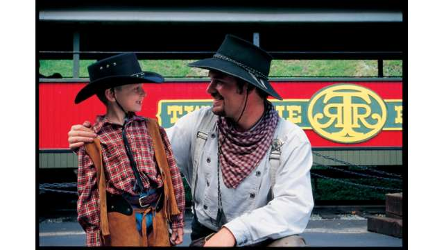 One of the Real Cowboys at Tweetsie Railroad | Boone, NC
