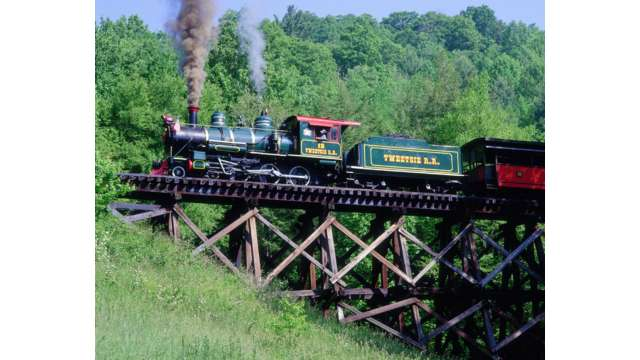 The Tweetsie Train on the Trestle | Boone, NC
