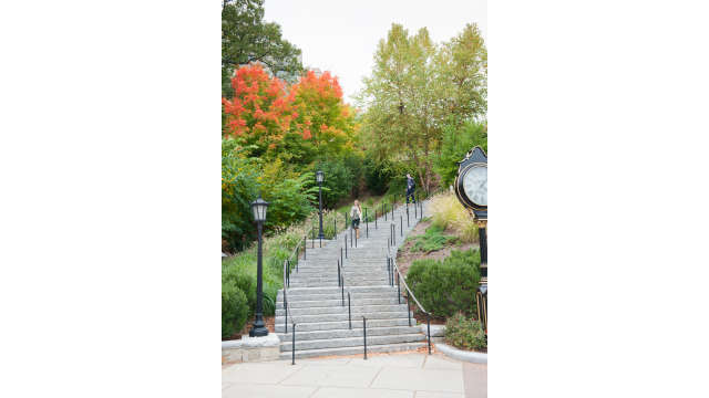 The Higgins Staircase at Boston College, Chestnut Hill, MA