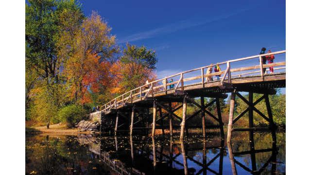 Concord Bridge in Autumn