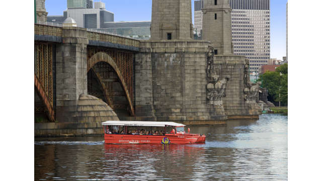 Duck Boat cruising the Charles