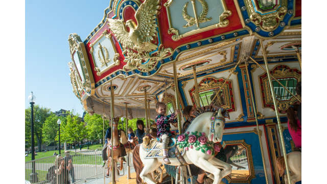 The carousel at the Frog Pond in the Boston Common
