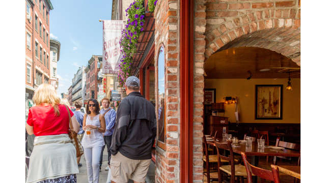 A walking tour takes visitors through the North End of Boston