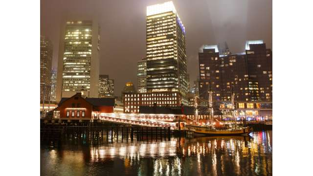 Boston Tea Party Ships & Museum - Night Exterior
