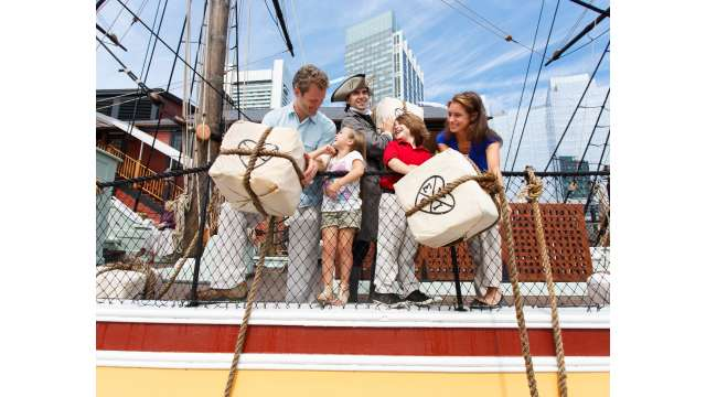 Boston Tea Party Ships & Museum - Family Throwing Tea