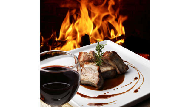 Dining - fire - wine - entree
