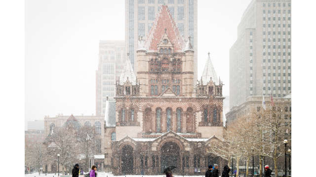 Trinity Church in snow storm