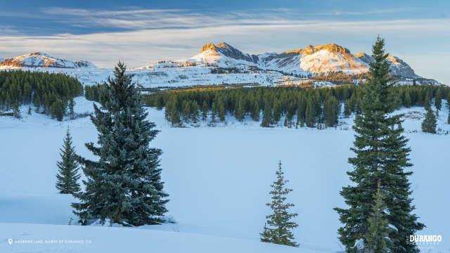 Andrews Lake in Winter, Durango, CO