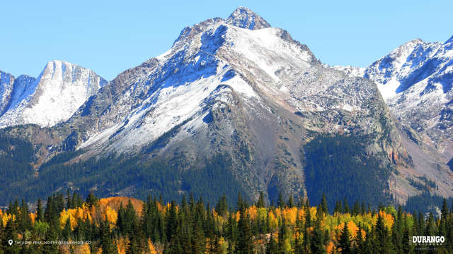Twilight Peak in Fall, North of Durango, CO