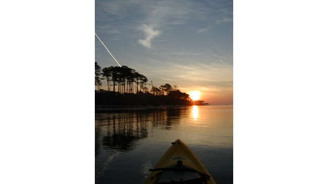 Sunrise over the Mississippi Sound by Kayak