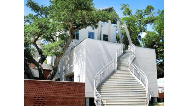 City of Biloxi Center for Ceramics staircase at the Ohr-O'Keefe Museum of Art