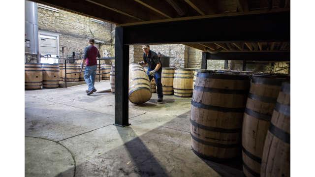 Preparing To Fill Bourbon Barrels