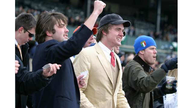 Fans Cheer at Keeneland Race Course
