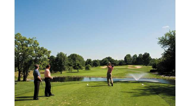 First tee at Marriott Griffin Gate Resort & Spa