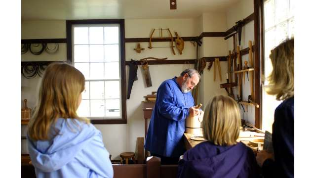 Woodworker at Shaker Village of Pleasant Hill