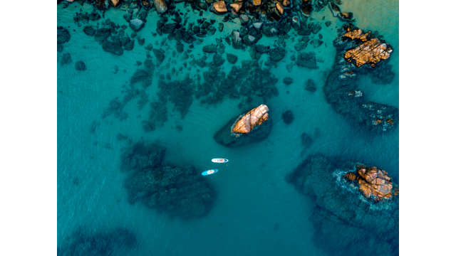 Paddleboarding Aerial Photo