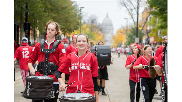 UW Madison Marching Band on State Street