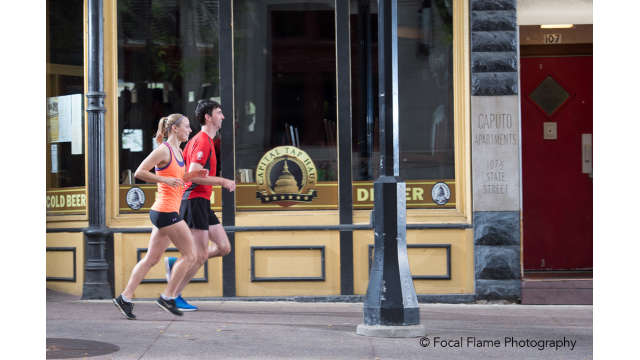 Runners on State Street