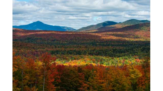 Whiteface Mountain from Combined Bobsled/Luge/Skeleton Track at Mount VanHovenburg outside Lake Placid